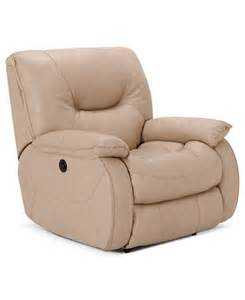 dante leather power recliner furniture macy s