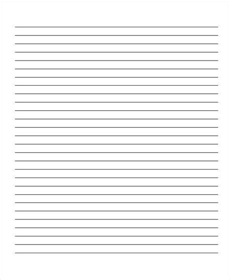 How To Make Lined Paper - 10 lined paper templates free sle exle format
