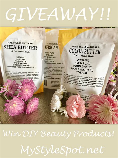 Diy Giveaway - giveaway win diy beauty products mystylespot