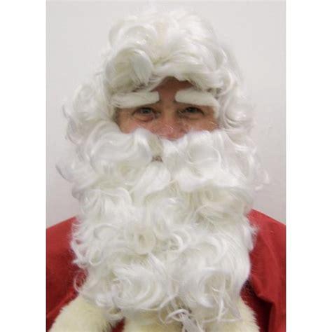 Barbe Pere Noel, perruque blanche, deguisement adulte, costume homme