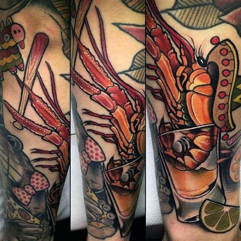 crawfish tattoo 40 crawfish designs for crayfish ink ideas