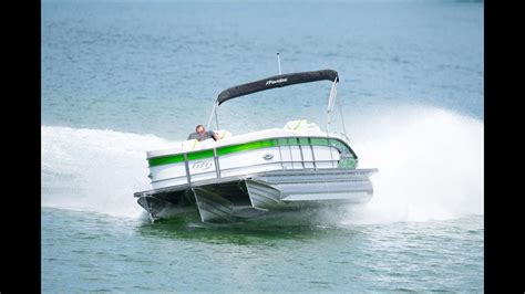 fast pontoon boats youtube the best performing pontoon in the industry manitou