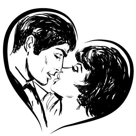 fotos de amor tumblr preto e branco adesivo desenho em preto e branco casal no cora 231 227 o beijo