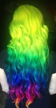 bright colored hair 18 wonderful rainbow hairstyles pretty designs