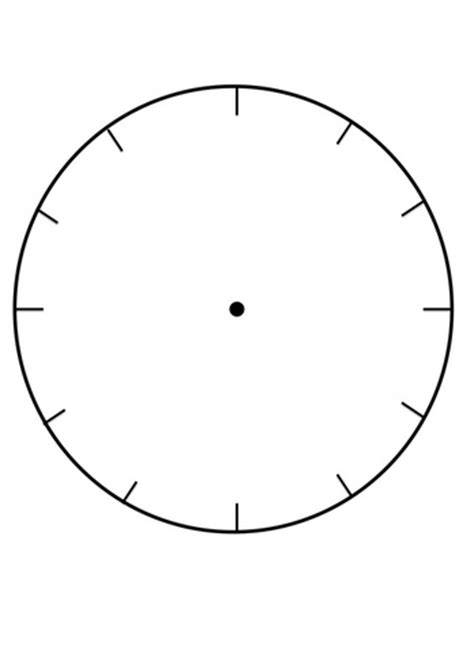 Clock Faces For Use In Learning To Tell The Time Clock Craft Template