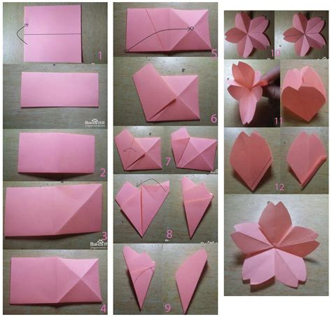 imagenes de flores origami paso a paso tutorial flores de sakura de papel