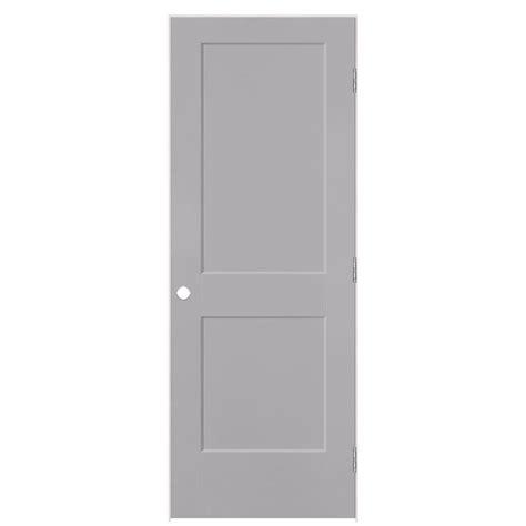 Masonite 2 Panel Interior Doors Shop Masonite Logan Driftwood 2 Panel Square Single Prehung Interior Door Common 30 In X 80 In