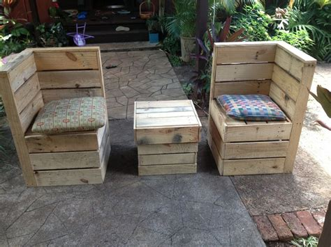 Pallet Patio Furniture Patio Furniture Recycled Shipping Pallets Ebay