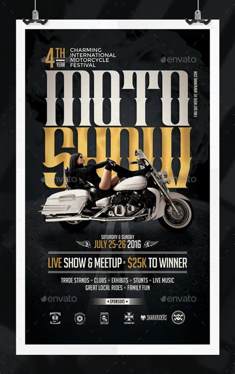 Motorcycle Show Flyer Template By Eamejia Graphicriver Free Motorcycle Ride Flyer Template