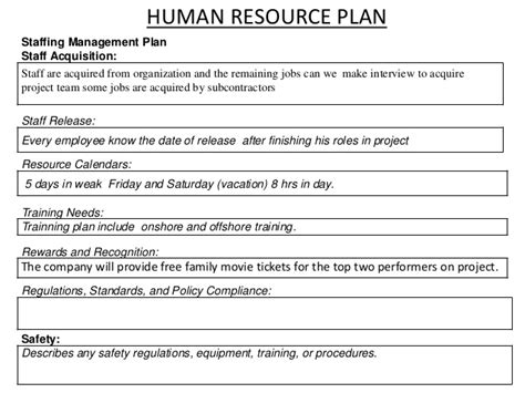 Session 14 4th Edition Pmp Human Resource Management Plan Template