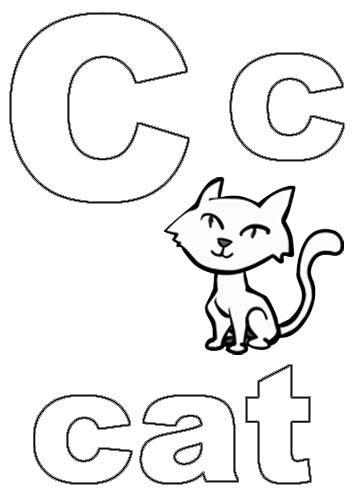 alphabet coloring pages letter c alphabet coloring pages