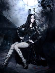 Halloween Costumes Women Dress With Long Sleeves Picture More Detailed Picture About Black Gothic Halloween Dresses