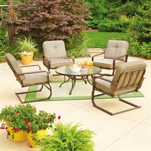 walmart outdoor patio furniture mainstays lawson ridge 5 patio conversation set