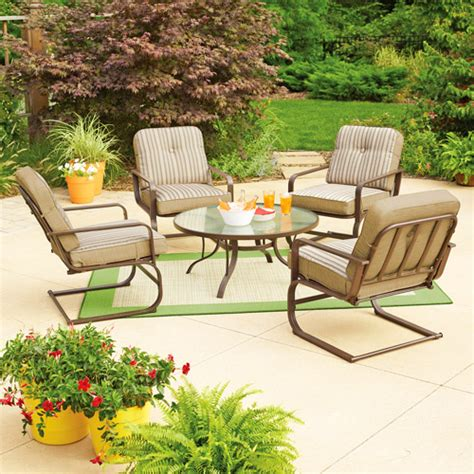 mainstays lawson ridge 5 patio conversation set