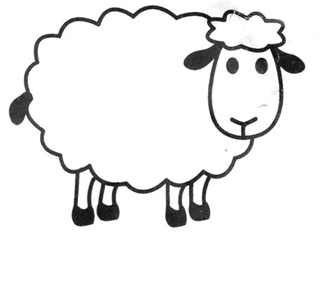 printable sheep template search results for sheep template printable calendar 2015