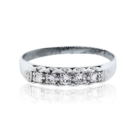 Wedding Bands South Florida by Platinum 5 Brilliant Wedding Band Ring