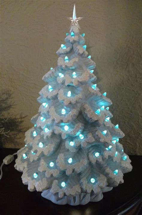 lighted ceramic christmas tree nowell sierra spruce 17