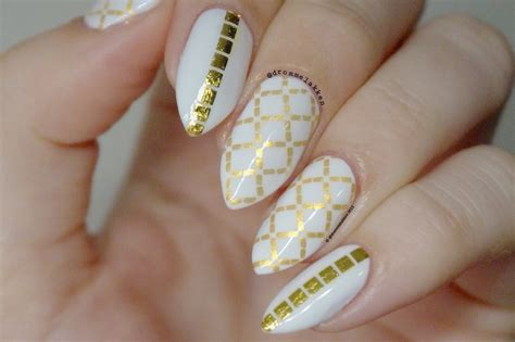 flash tattoo nails white and gold flash tattoo inspired nails the makeup honey