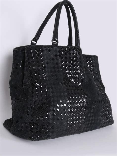 Bottega Veneta Deerskin Purse With Patent Teeth by Bottega Veneta Intrecciato Patent Leather Shopping Bag