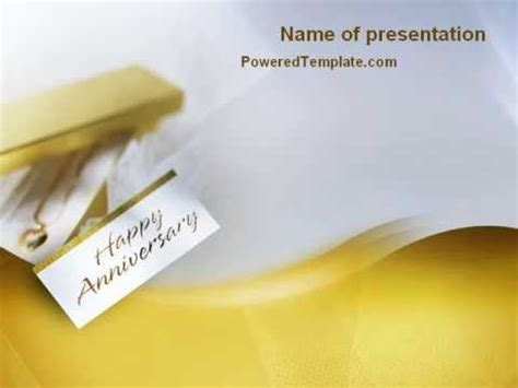 Happy Anniversary Powerpoint Template By Poweredtemplate 50th Wedding Anniversary Slideshow