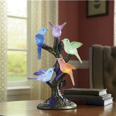 seventh avenue home decor color changing birds on stand from seventh avenue d849677