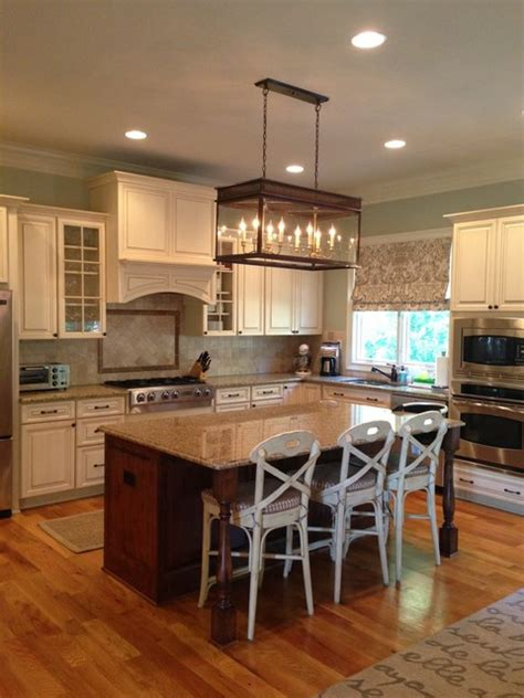 Lantern Lights Kitchen Island by Hanging Lantern Traditional Kitchen
