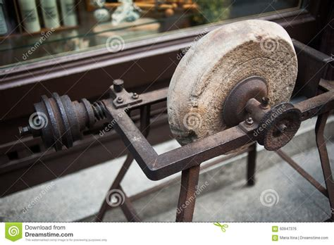 antique sharpening antique sharpening wheel closeup stock photo image 60947376