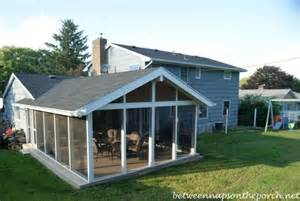 screened in porch addition convert a patio into a porch