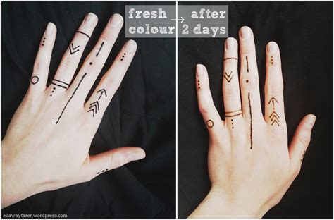 henna tattoo hand klein henna muster cool painted with khidab the