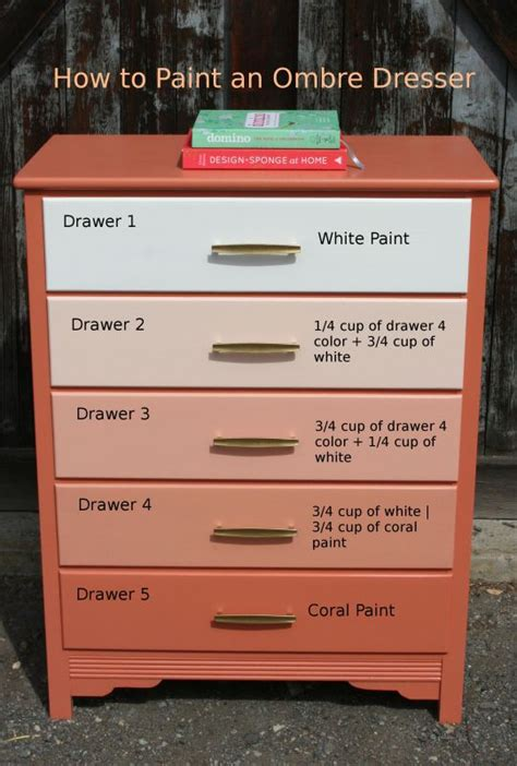 Diy Ombre Dresser by Learn How To Paint An Ombre Dresser Our Daily Ideas