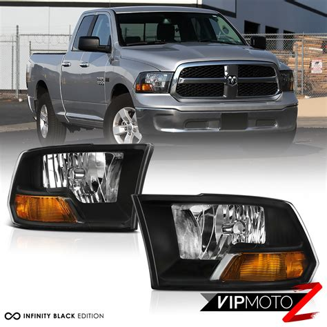 2009 dodge ram headlights 2009 2017 dodge ram 1500 2500 3500 black factory style