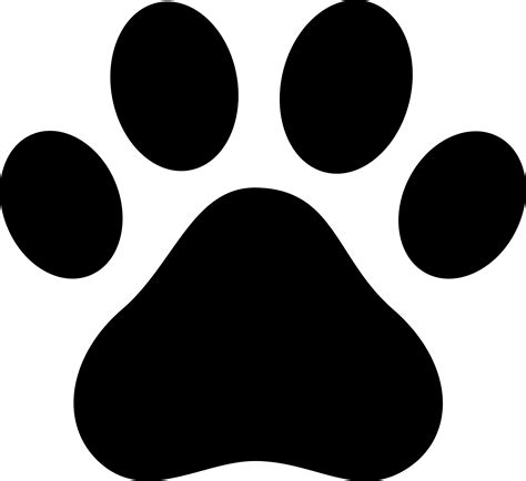 Paw Print Silhouette Dog Paw Clip Art Black Paw Print Silhouette Dog Art Pinterest Dog Paws Clip Art And