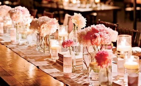 wedding table decorations candles flowers wedding decor for rectangular tables