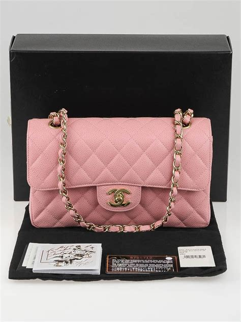 Caviar Shoo Pink chanel pink quilted caviar leather small classic