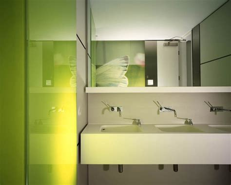 modern office bathroom deloitte consulting mackay partners archdaily
