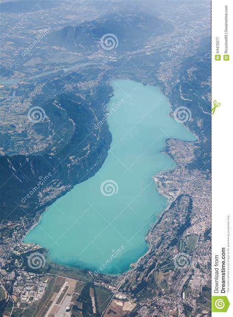 vue de lac bourget 224 aix les bains photo stock