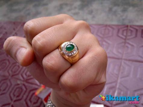 Jual Batu Cincin jual cincin batu zamrud dengan ikat emas aksesoris