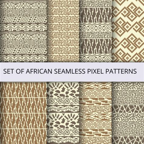 african pattern ai african pixel patterns vector free download