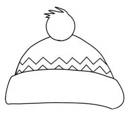 hat coloring winter hat coloring page preschool winter