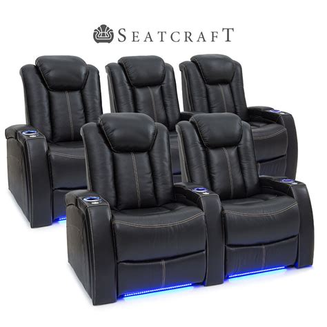 seatcraft innovator home theater seating row of 3 sofa w seatcraft delta leather home theater seating power recline