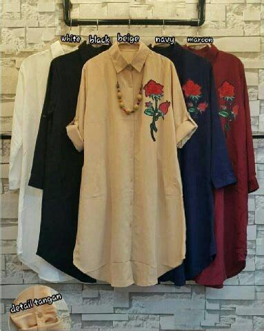 Blouse Wanita Bordir Wanita baju blouse atasan wanita bahan katun bordir bunga cantik