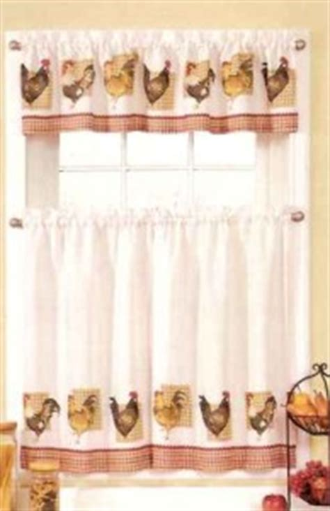 chicken kitchen curtains new sets chicken rooster kitchen curtains valances