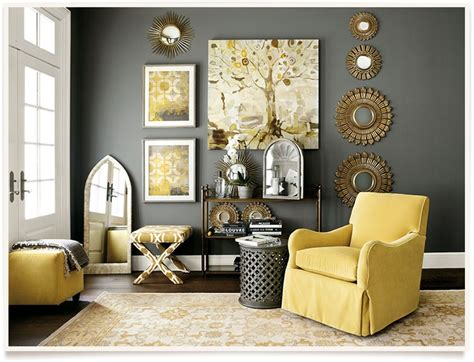 Yellow And Gray Home Decor by Yellow And Gray Living Room Homes