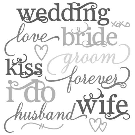 wedding word wedding word set svg cut files wedding svg cut files for