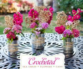 Tin Vases Wedding Centros De Mesa Con Latas Lacelebracion Com