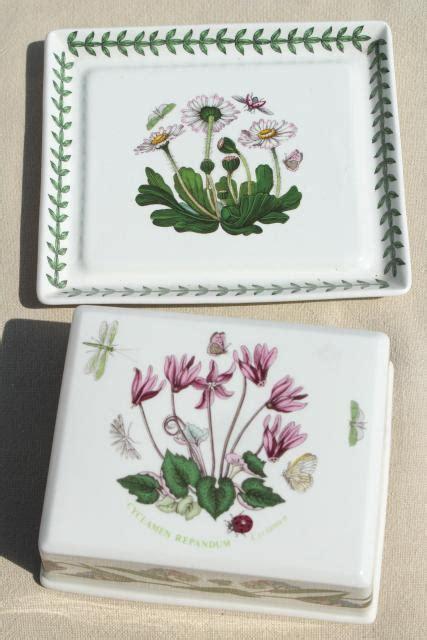 Portmeirion Botanic Garden Butter Dish Botanic Garden Portmeirion Covered Butter Dish Plate Cyclamen Cover