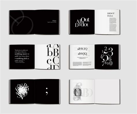 Elegant Layout Book | didot type specimen book didot is an elegant and modern