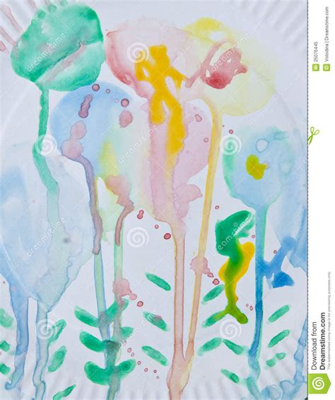 Drawing 2 Year by This Is An Abstract Drawing 2 Year Child Stock Image
