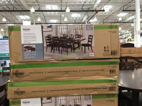 costco home decor costco 1041202 bayside furnishings 9pc dining set all