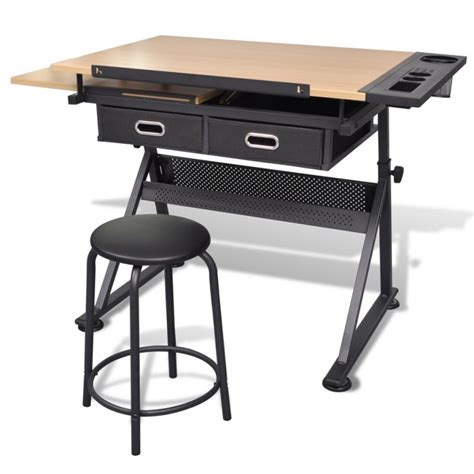 Tilt Art Drawing Drafting Table W 2 Drawers Stool Buy Where To Buy A Drafting Table